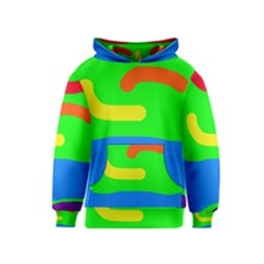 Rainbow abstraction Kids  Pullover Hoodie