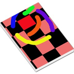 Multicolor abstraction Large Memo Pads