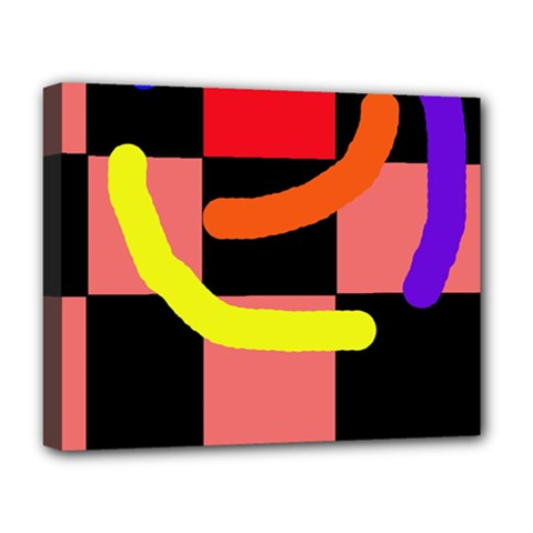 Multicolor abstraction Deluxe Canvas 20  x 16