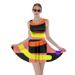 Multicolor abstraction Skater Dress