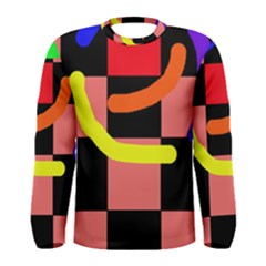 Multicolor abstraction Men s Long Sleeve Tee