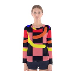 Multicolor abstraction Women s Long Sleeve Tee