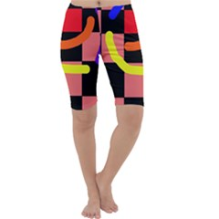 Multicolor abstraction Cropped Leggings