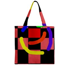 Multicolor abstraction Zipper Grocery Tote Bag