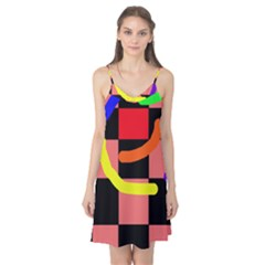 Multicolor abstraction Camis Nightgown