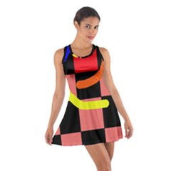 Multicolor Abstraction Racerback Dresses