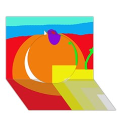 Colorful abstraction Circle 3D Greeting Card (7x5)