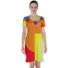 Colorful abstraction Short Sleeve Nightdress