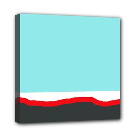 Simple decorative design Mini Canvas 8  x 8