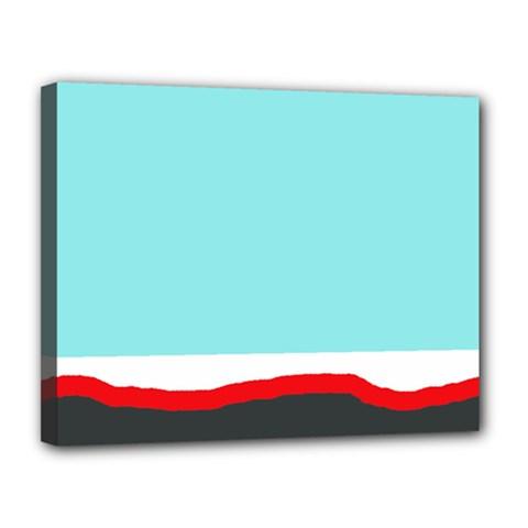 Simple decorative design Canvas 14  x 11