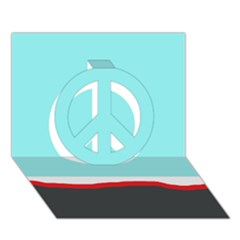 Simple decorative design Peace Sign 3D Greeting Card (7x5)