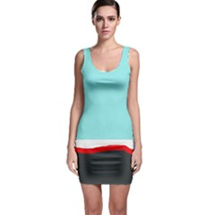 Simple decorative design Sleeveless Bodycon Dress