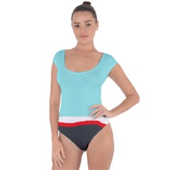 Simple decorative design Short Sleeve Leotard