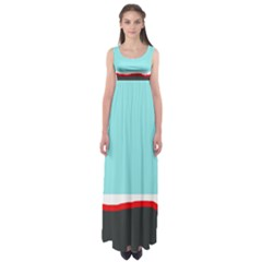 Simple decorative design Empire Waist Maxi Dress