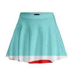 Simple decorative design Mini Flare Skirt