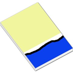 Yellow and blue simple design Large Memo Pads