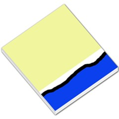 Yellow and blue simple design Small Memo Pads
