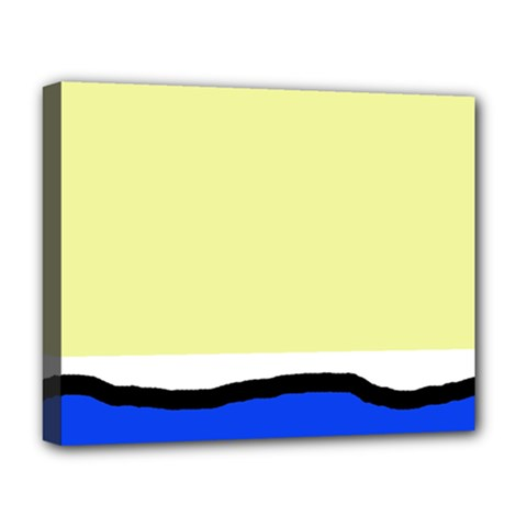 Yellow and blue simple design Deluxe Canvas 20  x 16