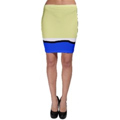 Yellow and blue simple design Bodycon Skirt