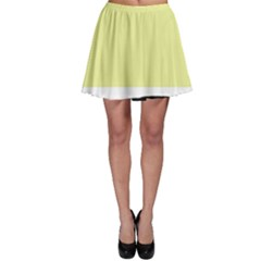 Yellow and blue simple design Skater Skirt