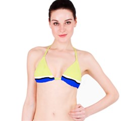 Yellow and blue simple design Bikini Top