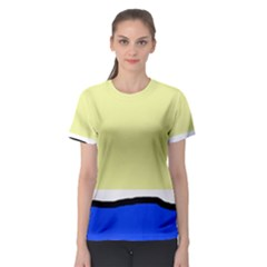 Yellow and blue simple design Women s Sport Mesh Tee