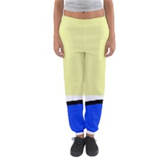 Yellow and blue simple design Women s Jogger Sweatpants