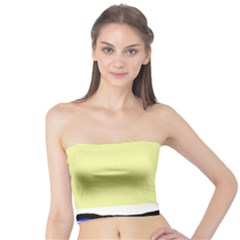 Yellow and blue simple design Tube Top