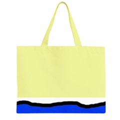 Yellow and blue simple design Large Tote Bag