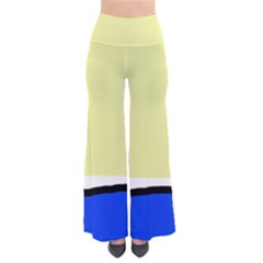 Yellow And Blue Simple Design Pants
