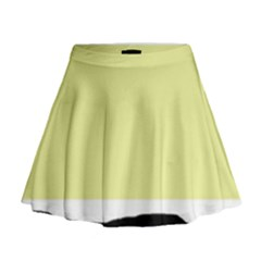 Yellow and blue simple design Mini Flare Skirt