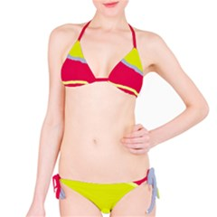 Red and yellow design Bikini Set