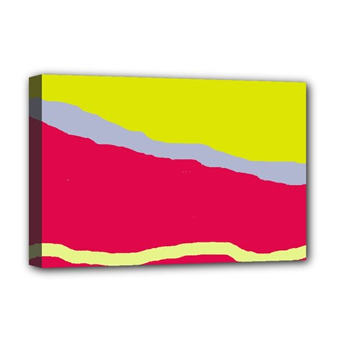 Red and yellow design Deluxe Canvas 18  x 12