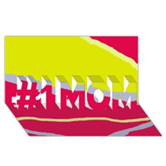 Red and yellow design #1 MOM 3D Greeting Cards (8x4)