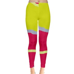 Red and yellow design Leggings