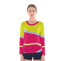 Red and yellow design Women s Long Sleeve Tee