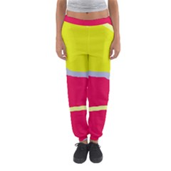 Red and yellow design Women s Jogger Sweatpants