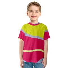 Red and yellow design Kid s Sport Mesh Tee