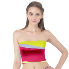 Red and yellow design Tube Top
