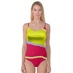 Red and yellow design Camisole Leotard