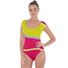 Red and yellow design Short Sleeve Leotard