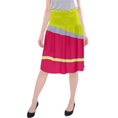 Red and yellow design Midi Beach Skirt