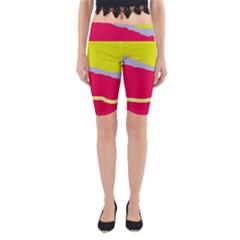 Red and yellow design Yoga Cropped Leggings