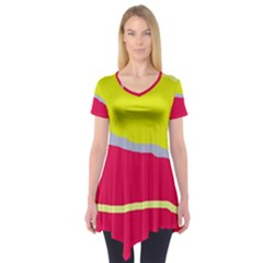 Red and yellow design Short Sleeve Tunic