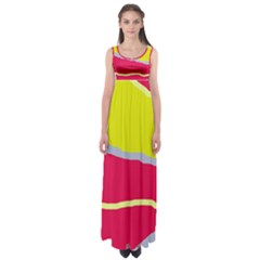 Red and yellow design Empire Waist Maxi Dress