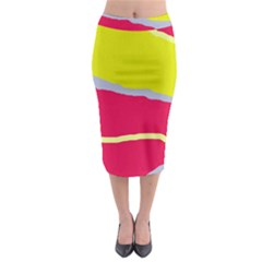 Red and yellow design Midi Pencil Skirt
