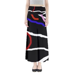 Decorative lines Maxi Skirts