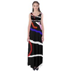 Decorative lines Empire Waist Maxi Dress