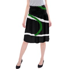 Decorative lines Midi Beach Skirt
