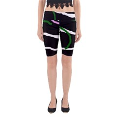 Decorative lines Yoga Cropped Leggings